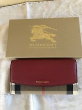 NEW Burberry Womens  Porter House Check & Leather Continental Wallet