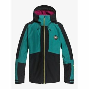Quiksilver Forever 67.6oz Gore-Tex Jacket Antique Green 2021 Snowboard New