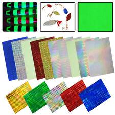 15pcs/Set Holographic Film Flash Fishing Lure Prism Tape Scale Skin Laser Lures