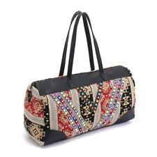 Mayan Aztec Peru Canvas Duffel Holdall / Gypsy Boho Carpet Weekend Duffle Bag