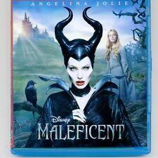 Disney Maleficent 2014 PG family movie Blu-ray disc and case. No DVD. No digital