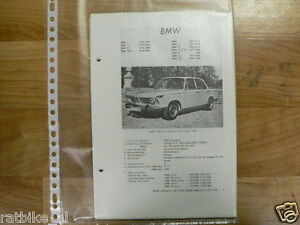 B5-BMW TYPEN 1800 EN 2000, A,TI,TISA,TILUX,C,CA,CS  1963-1968 TECHNICAL INFO CAR