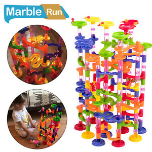 219 PCS Kid's Marble Run Race Toy Construction Building Block Game Track Gifts