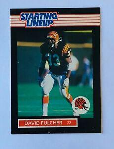 1989 DAVID FULCHER CINCINNATI BENGALS STARTING LINEUP CARD!