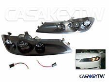 DHL Ship-FOR NISSAN S15 SILVIA 240SX 1999-2002 Projector Head Lights Lamps-Black