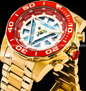 Invicta MARVEL TONY STARK IRONMAN Chronograph 18Kt Red Gold Bracelet Watch