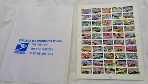 2001 US Postage stamp sheet Greetings from States unhinged first class letter