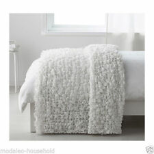 Ikea OFELIA Bedspread blanket,white 130 x170cm 80% polyester,20% acrylic PUP10