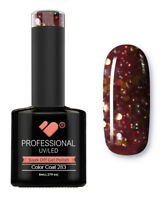 283 VB Line Ruby Ritz Gold Glitter - gel nail polish - super gel polish