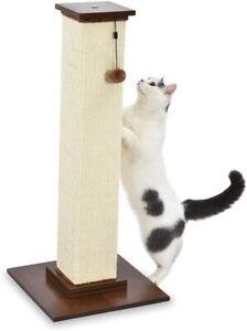 AmazonBasics Large Premium Tall Cat Scratching Post Wood