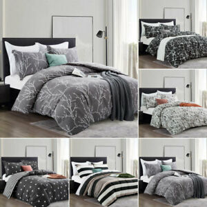 Reversible Printed Duvet Cover Set Single Double King Size Patterned Quilt Cover