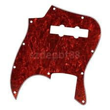 Red Tortoise Shell pickguard scratch 3 ply 10 hole for Jazz J Bass guitar