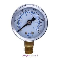 "Metal 1/8"" NPT Air Compressor Hydraulic Pressure Gauge 200PSI Side Mount"
