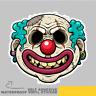 Clown Zombie Face Scary Smile Vinyl Sticker Decal Window Car Van Bike 2739