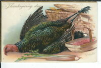 CA-050 Thanksgiving day Artist R.J. Wealthy Divided Back Postcard Tuck and Sons