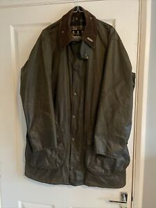 """Mens Barbour Border Vintage Wax Jacket, Size 40"""",  102cm"""