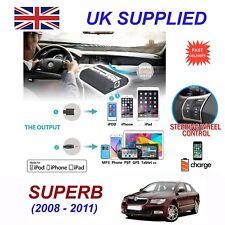 For Skoda Superb iPhone 5 6 7 8 SE 10 mp3 Aux Digital Audio CD Changer Module 12