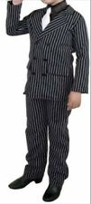 gangster beetlejuice striped 3 pc suit costume child L Euc pants jacket dickey