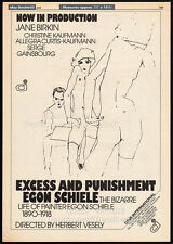 EGON SCHIELE: EXCESS...__Original 1979 Trade print AD/ poster__Pencil art_artist