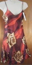 Red Brown & Cream Junior Size Satin Nightgown Size Medium New With Tag
