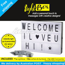 A4 Display Sign Board LED Cinematic Light Box 92 letters Wedding As Seen On TV
