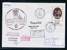 04571) Polar Antarktis Frankreich TAAF Crozet Paquebot 23.7.89, signed