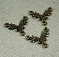 Antique Bronze Branch Pendant or Connectors / Links  - pack of 10