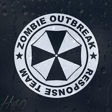 Zombie Paraguas brote equipo de respuesta coche decal pegatina de vinilo