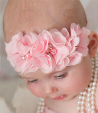 Lot 8 PCS Baby Toddler Flower Headband Pearl Flower Hair Bow Band Accessories