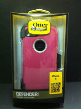 OtterBox Defender iPhone 5 iphone 5S Rugged Hard w Holster Belt Clip Pink White