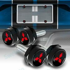 Universal Auto Car License Plate Bolts Frame Screw Caps Covers for Mitsubishi X4