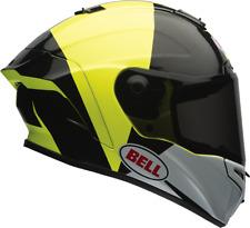 Bell Star ESPECTRO NEGRO/Amarillo Casco de MOTO - Medio + Visor Oscuro