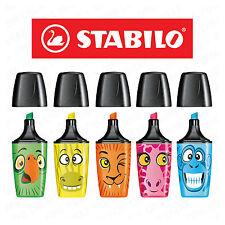 Stabilo Boss Highlighter Pens 'Mini Funnimals' Wallet Of 5 Assorted