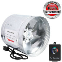 "4"" 6"" 8""Duct Booster Inline Blower Fan Exhaust Ducting Cooling Vent + Controller"