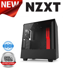 NZXT H500i Matte Black/Red Mid Tower Case With Tempered Glass Window
