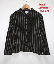 THE MASAI CLOTHING CO WOMAN LADY BLACK & LINE COLOR JACKET SIZE M LENGTH 62 CM