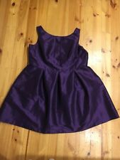 Alfred Sung Beautiful Lined Purple Cocktail Evening Bridesmaid Dress Size 28