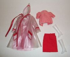 Vintage 1/6 SCALE 1960'S MOD RED WHITE CLOTHES OUTFIT & COAT FACTORY MADE CLONE