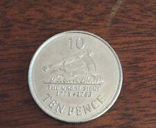 2013 Gibilterra 10P Dieci Penny IL GRANDE ASSEDIO circolato