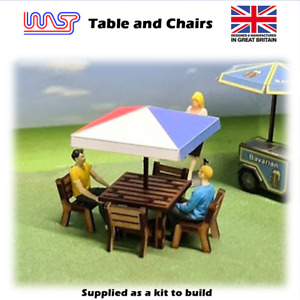 1/32 scale Table and chairs - Slot track, Scenery, kit