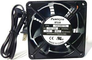 Pamteysa 12038 AC Muffin Fan, AC Cooling Fan 115V 120V AC 120mm120mm38mm