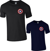 Autism Awareness T-Shirt,Captain America Shield Logo Avengers Marvel Comics Top