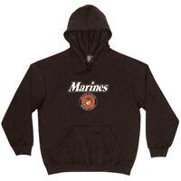 United States Marine Corps Logo Men's Pullover EGA Hoodie Sweatshirt Black