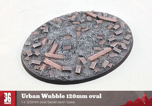 Urban Wubble 120mm Oval Resin Base