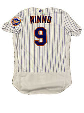 MLB Authenticated - Brandon Nimmo Pinstriped Jersey Issued By New York Mets