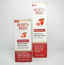BURT'S BEES RENEWAL INTENSIVE FIRMING SERUM AND SMOOTHING EYE CREAM NEW IN BOX