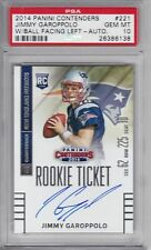 2014 14 JIMMY GAROPPOLO 49ERS CONTENDERS ROOKIE TICKET AUTO #221 PSA 10