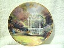 Thomas Kinkade Simpler Times May Lilac Gazebo Monthly Calendar Plate