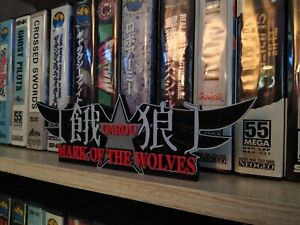 Logo garou mark of the wolves snk à exposer collection neo geo sign