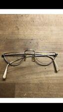 Vintage England Line Half Eye Prescription Glasses Made By Algha With Case